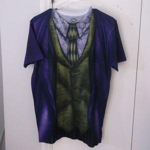 DC Comics Purple Green Joker Graphic T-shirt M
